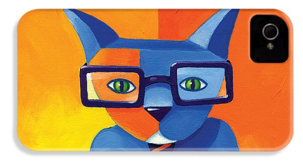 Business Cat IPhone 4s Case by Mike Lawrence