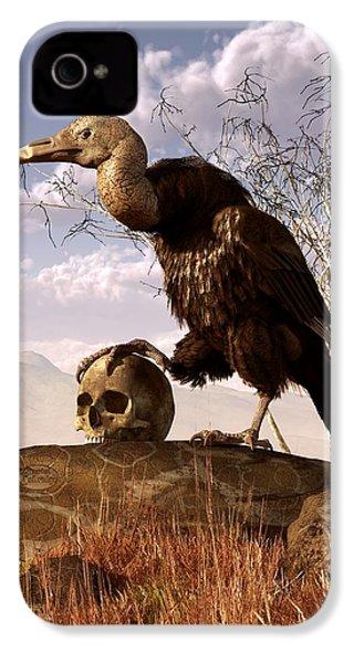 Buzzard With A Skull IPhone 4s Case by Daniel Eskridge