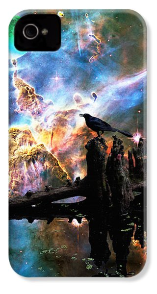 Calling The Night - Crow Art By Sharon Cummings IPhone 4s Case by Sharon Cummings