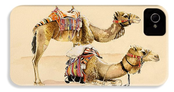 Camels From Petra IPhone 4s Case by Alison Cooper