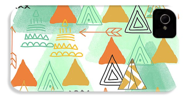 Camping IPhone 4s Case by Linda Woods