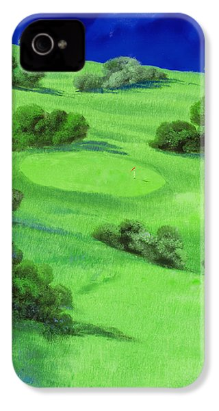 Campo Da Golf Di Notte IPhone 4s Case by Guido Borelli
