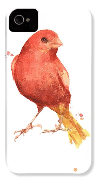 Canary Bird IPhone 4s Case by Alison Fennell