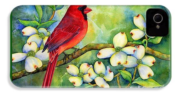 Cardinal On Dogwood IPhone 4s Case