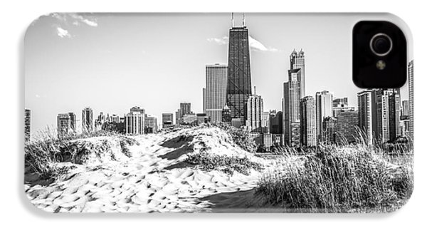 Chicago Beach And Skyline Black And White Photo IPhone 4s Case by Paul Velgos