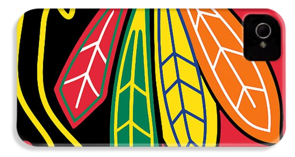 Chicago Blackhawks IPhone 4s Case by Tony Rubino