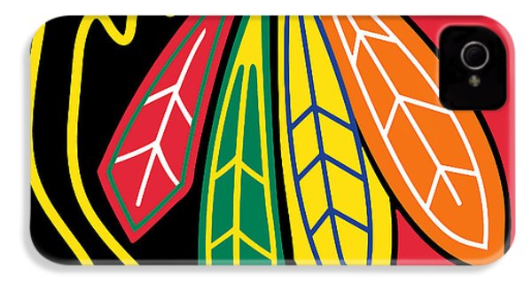 Chicago Blackhawks IPhone 4s Case by Tony Rubino