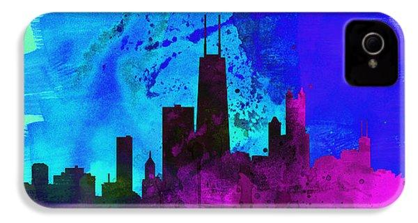 Chicago City Skyline IPhone 4s Case by Naxart Studio