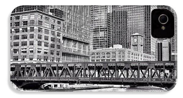 Wells Street Bridge Chicago Hdr Photo IPhone 4s Case