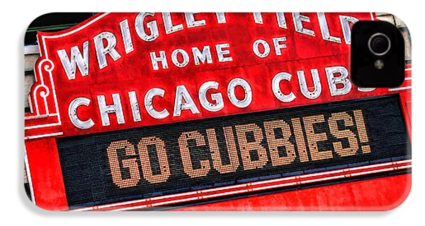 Chicago Cubs Wrigley Field IPhone 4s Case by Christopher Arndt