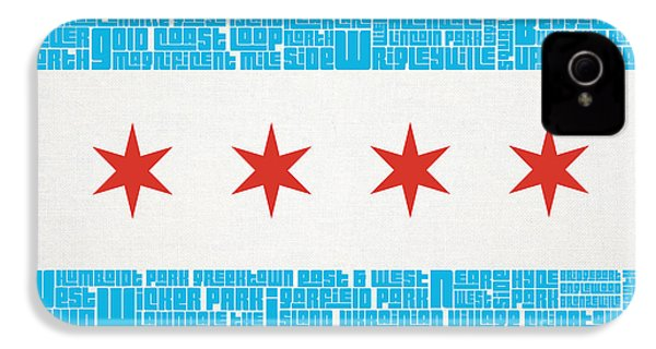 Chicago Flag Neighborhoods IPhone 4s Case by Mike Maher