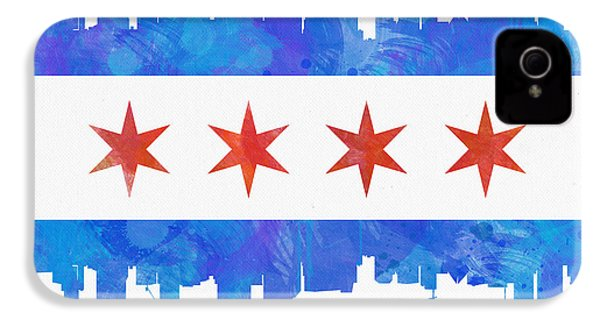 Chicago Flag Watercolor IPhone 4s Case