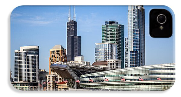 Chicago Skyline With Soldier Field And Sears Tower  IPhone 4s Case by Paul Velgos