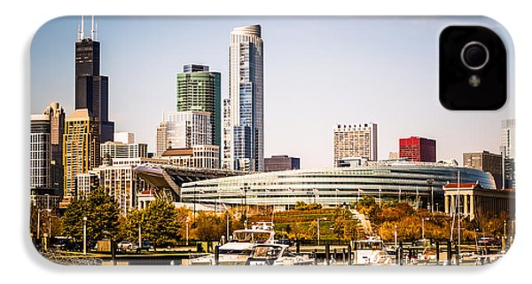 Chicago Skyline With Soldier Field IPhone 4s Case by Paul Velgos