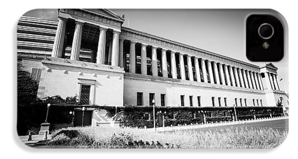 Chicago Solider Field Black And White Picture IPhone 4s Case by Paul Velgos