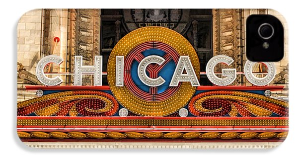 Chicago Theatre Marquee Sign IPhone 4s Case by Christopher Arndt