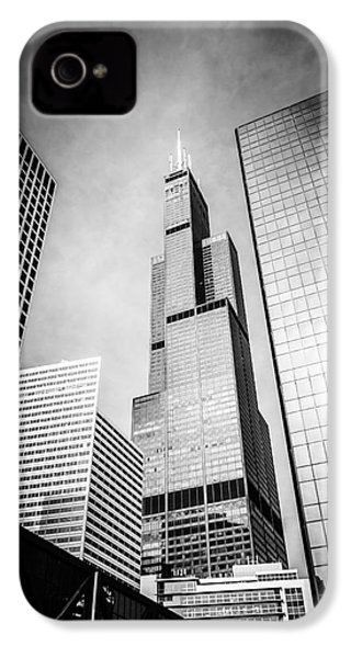 Chicago Willis-sears Tower In Black And White IPhone 4s Case