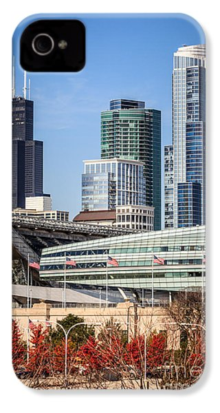 Chicago With Soldier Field And Sears Tower IPhone 4s Case by Paul Velgos