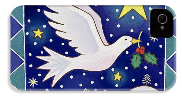 Christmas Dove  IPhone 4s Case by Cathy Baxter