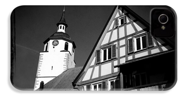 Church And Half-timbered House In Lovely Old Town IPhone 4s Case