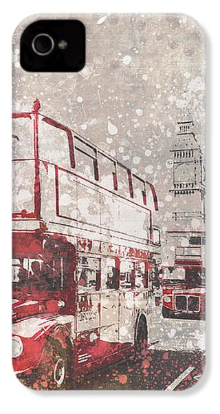 City-art London Red Buses II IPhone 4s Case by Melanie Viola