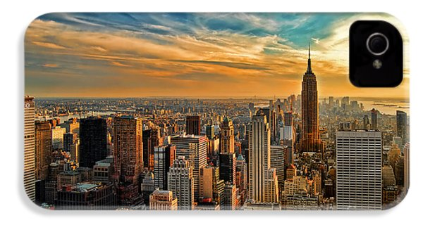 City Sunset New York City Usa IPhone 4s Case by Sabine Jacobs