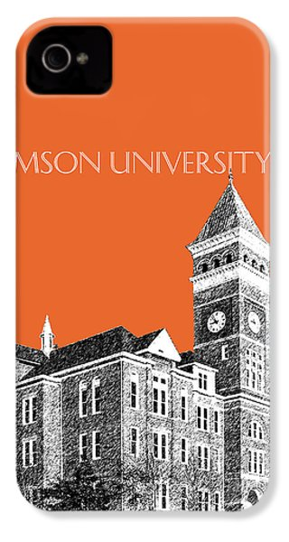 Clemson University - Coral IPhone 4s Case by DB Artist