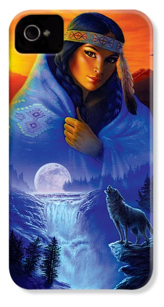 Cloak Of Visions Portrait IPhone 4s Case by Andrew Farley