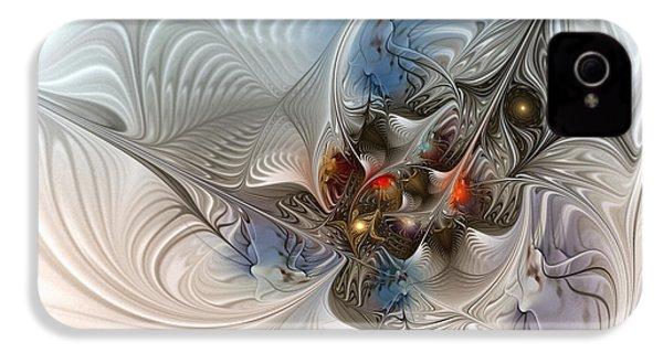 Cloud Cuckoo Land-fractal Art IPhone 4s Case by Karin Kuhlmann