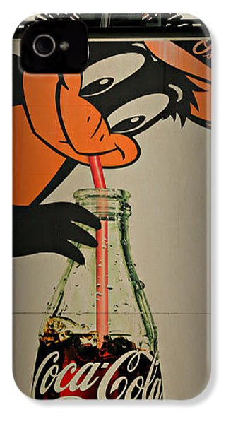 Coca Cola Orioles Sign IPhone 4s Case by Stephen Stookey