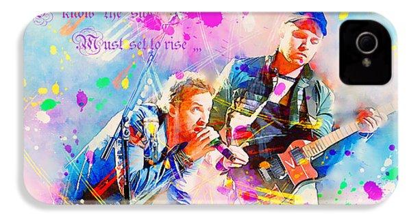 Coldplay Lyrics IPhone 4s Case by Rosalina Atanasova