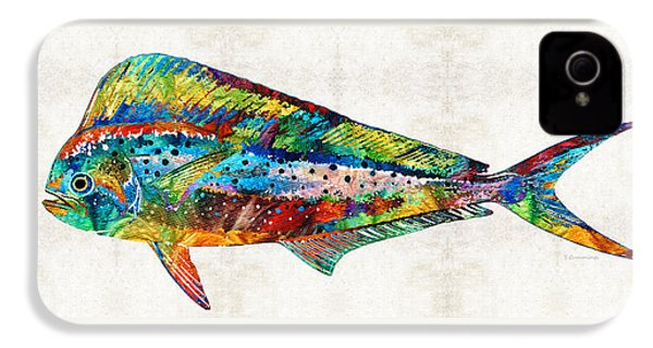 Colorful Dolphin Fish By Sharon Cummings IPhone 4s Case by Sharon Cummings