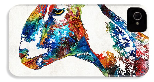 Colorful Goat Art By Sharon Cummings IPhone 4s Case by Sharon Cummings