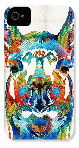 Colorful Llama Art - The Prince - By Sharon Cummings IPhone 4s Case