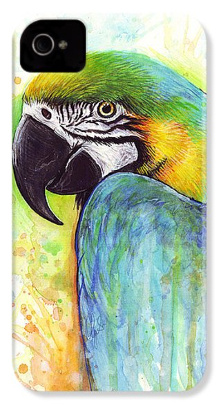 Macaw Painting IPhone 4s Case by Olga Shvartsur
