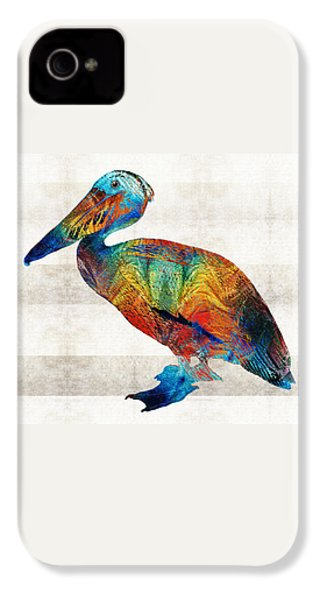 Colorful Pelican Art By Sharon Cummings IPhone 4s Case