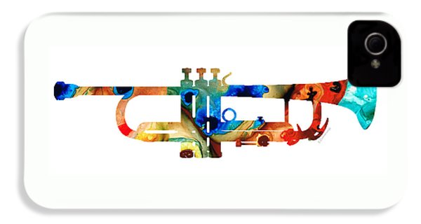 Colorful Trumpet Art By Sharon Cummings IPhone 4s Case