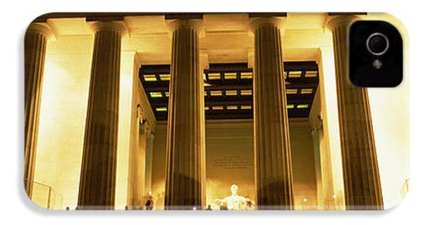 Columns Surrounding A Memorial, Lincoln IPhone 4s Case by Panoramic Images