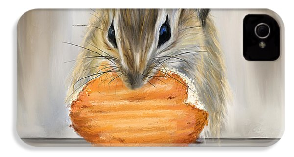 Cookie Time- Squirrel Eating A Cookie IPhone 4s Case by Lourry Legarde