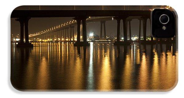 Coronado Bridge At Night IPhone 4s Case by Nathan Rupert