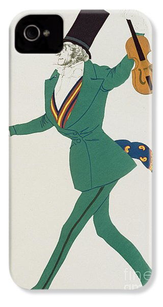 Costume Design For Paganini In The Enchanted Night IPhone 4s Case by Leon Bakst