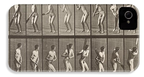 Cricketer IPhone 4s Case by Eadweard Muybridge