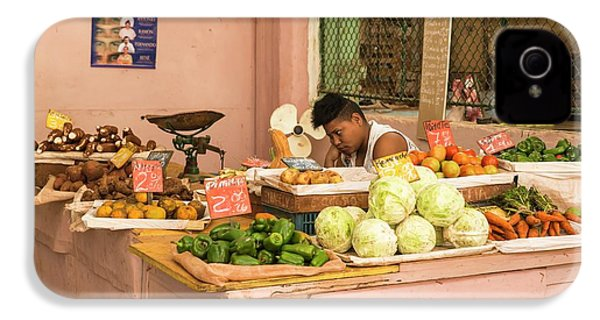 Cuban Market Stall IPhone 4s Case by Peter J. Raymond