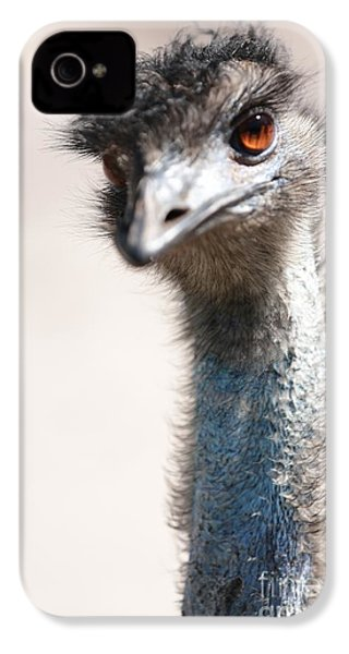 Curious Emu IPhone 4s Case by Carol Groenen