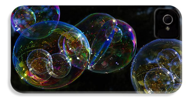 IPhone 4s Case featuring the photograph Dark Bubbles With Babies by Nareeta Martin