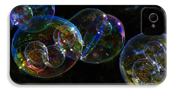 Dark Bubbles With Babies IPhone 4s Case by Nareeta Martin