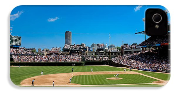 Day Game At Wrigley Field IPhone 4s Case by Anthony Doudt