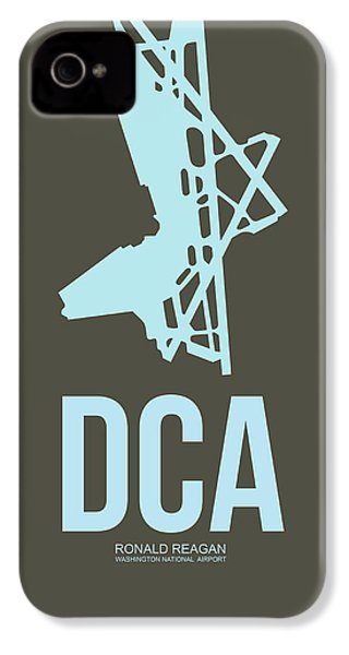 Dca Washington Airport Poster 1 IPhone 4s Case by Naxart Studio