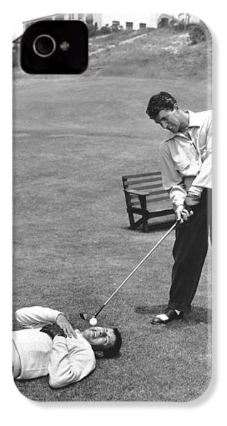 Dean Martin & Jerry Lewis Golf IPhone 4s Case by Underwood Archives