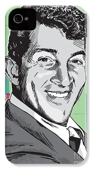 Dean Martin Pop Art IPhone 4s Case by Jim Zahniser